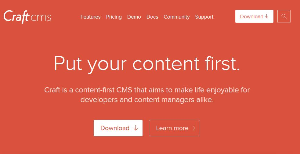 Craft CMS mit Content First