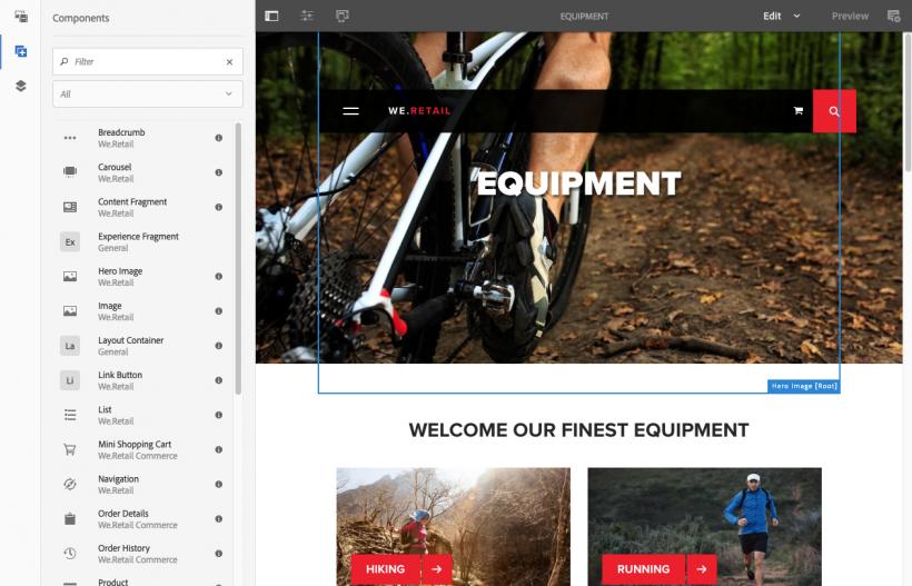 Screenshot AEM Components
