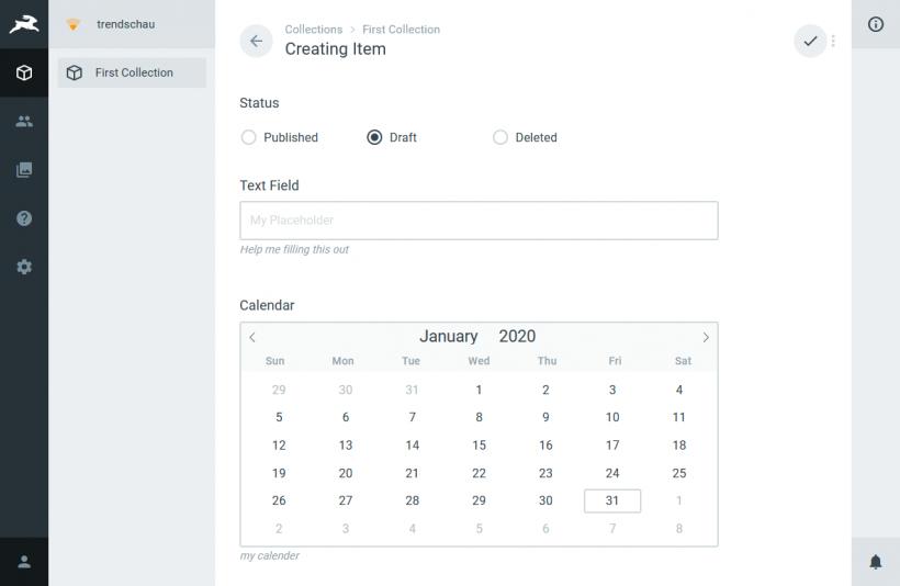 Screenshot Director Author Interface