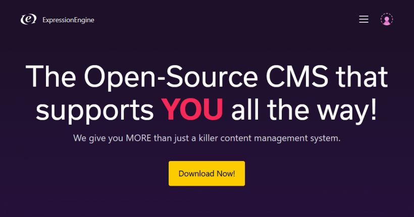 Screenshot ExpressionEngine CMS
