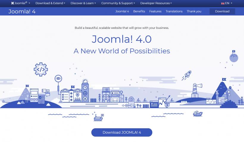 Screenshot der Joomla! 4 Webseite
