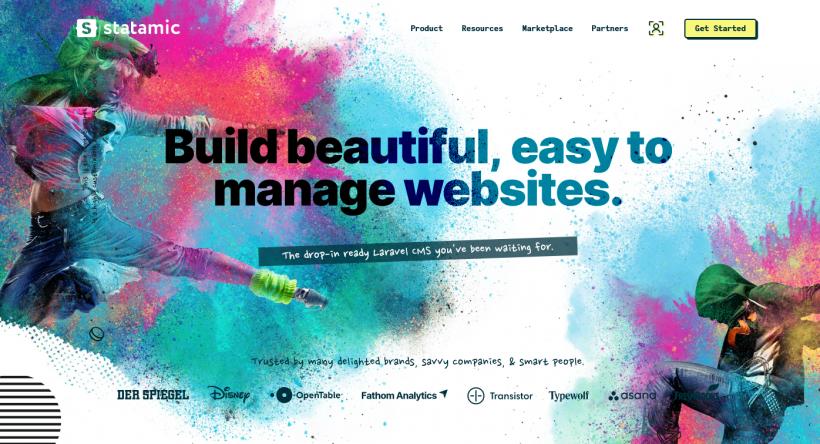 Screenshot Statamic Website