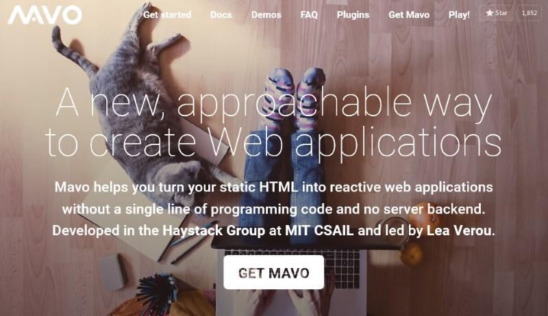 Die Website von Mavo