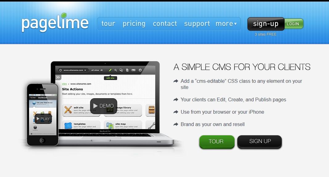 Pagelime ist einer der vier bekannten Remote-Lösungen für statische HTML-Seiten.